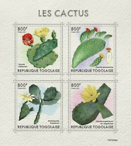 Togo 2021 MNH Plants Stamps Cactus Opuntia Cacti Nature 4v M/S