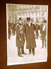 L'Imperatore di Germania Guglielmo alle manovre in Svizzera A Zurigo con Forrer