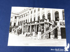 Vintage European Vacation Photo Flowers Balcony Iron Railings GREAT Building
