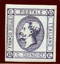 1863 15 cent. Litografico Tipo raro Cat. Bolaffi 67A/ Firma G. Chiavarello