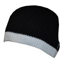 Beanie Hat Foot Patrol Black With White Trim BH689