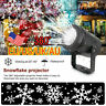 New LED Snowflake Projector Christmas Moving Laser Projection Outdoor Light US