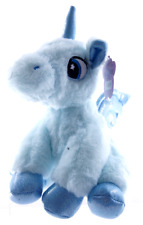 "NEW 9"" SITTING UNICORN PLUSH SOFT TOYS CUDDLY HORSE TEDDY BLUE UNICORN"