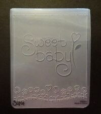 Sizzix Large Embossing Folder SWEET BABY fits Cuttlebug & Wizard 4.5x5.75in