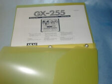AKAI GX-255  REEL TO REEL TAPE DECK  OPERATOR'S MANUAL FREE SAME DAY SHIPPING
