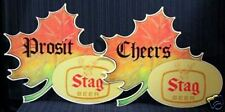 2 Stag Beer Fall 1980 Store Display Signs / Old Stock