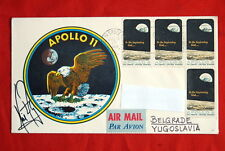 APOLLO 11 SIGNED NEIL ARMSTRONG JULY 16 1969 COVER NASA SPACE NOT INSURANCE