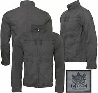Mens Hoi Polloi casual full zip Cotton canvas designer style jacket