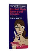 Completely Bare Facial Hair Removal Cream Fresh Scent Argan & Aloe , 0.5 oz