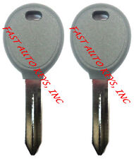 PAIR - New Uncut 1998 - 2006 Dodge Transponder Chip Key - Same Day Shipping