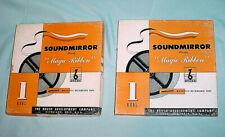 """7""""Brush Soundmirror Magnetic Plastic Recording 1/4 Tape BK-622 Magic Ribbon Reel"""