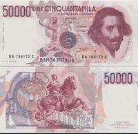 1984 Italia Banconota Lire 50000 Bernini 1 Tipo D.M 15-03-1984 Q Fior Di Stampa