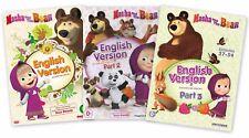 MASHA AND THE BEAR ENGLISH VERSION - 3 DVD - EPISODES 1-54 - PARTS 1, 2 and 3