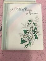 Vintage Wedding Card MCM Glitter Rainbow prayer Book American Greetings
