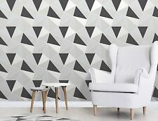 feine Dekor Apex Tapete geometrictriangle Modern Muster schwarz silber fd41994