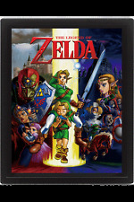 Legend of Zelda Póster Efecto 3D Enmarcado Ocarina Of Time 26 x 20 cm