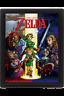 Legend of Zelda Cuadro Efecto 3D Enmarcado Ocarina Of Time 26 x 20 cm