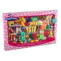 120 Piece Pretend Play Toy Food Set Kids Childrens Creative Plastic Educational