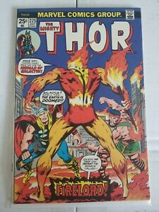 Thor #225 1974 MARVEL 1st Appearance Firelord Pyreus Kril VF Nice Key Galactus