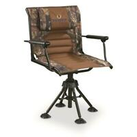 360 Comfort Swivel Hunting Chair w/ Armrests Mossy Oak Country Camo Foldable