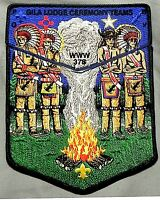 GILA OA LODGE 378 YUCCA COUNCIL TEXAS 66 78 FLAP 2-PATCH 1/ CEREMONY TEAM MEMBER