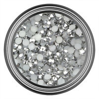 Silver Resin Rhinestone Gem - 2mm 3mm 4mm 5mm 6mm - Flat Back - Nail Art