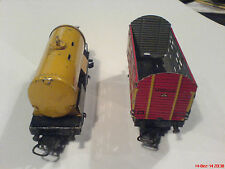 Marklin H0 / 00 old tin cars for repair, full metal , shell 374 and