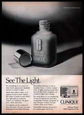 1982 Clinique Extra Help Makeup Skin Care B&W Vintage 1980s Photo PRINT AD