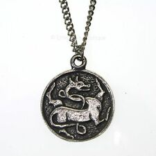 New Pewter Gripping Beast Chimera Viking Amulet Pendant Necklace Vitality Regene