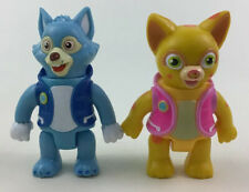 "Special Agent Oso 2pc Lot Toy Figures 3"" Wolfie and Dottie Learning Curve Disney"