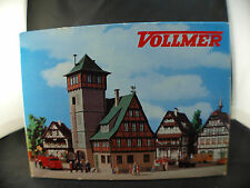 Vollmer HO n° 3752 remise pompiers Fire engine shed Spritzenhaus neuf boite MIB