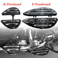 Billet Front & Rear Floorboards Passenger Driver Stretched Footpeg For Harley
