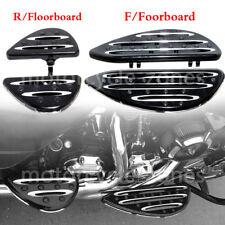 Billet Front & Rear Floorboards Passenger Driver Stretched Footpeg For Harley