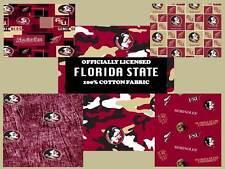 Florida State University FSU Seminoles Cotton Fabric by the Yard-ALL PATTERNS