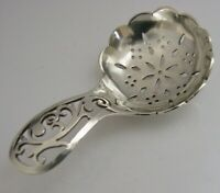 PRETTY ENGLISH SOLID STERLING SILVER TEA CADDY SPOON 1920 ANTIQUE
