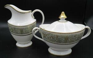"""ROYAL DOULTON England China """"English Renaissance"""" Creamer & Sugar Bowl"""