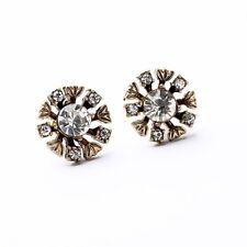 floral earrings flower Nwot Vintage gold