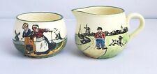 Vintage Germany G.S. Zell Baden Creamer Pitcher Sugar Bowl Made in Austria Dutch