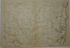 1907 Original Map Whatley Hatfield Northhampton Williamsburg Worthington MA Mass