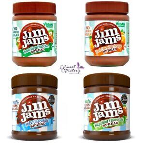 2x JimJams Low Sugar Spreads (YOU PICK) Hazelnut Chocolate Vegan Orange Hazelnut
