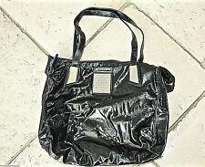 THIERRY MUGLER grand sac à main cabas en cuir vernis noir EXCELLENT ÉTAT