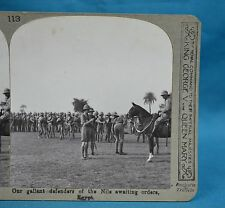 WW1 Stereoview Our Gallant Defenders Of The Nile Awaiting Orders Egypt Realistic