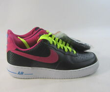 Nike Air Force 1 Mena €™S Negro/Fireberry 488298 015 Size 7.5