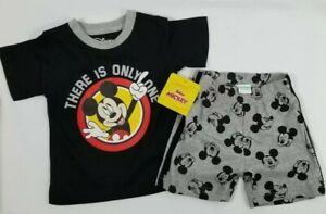 Disney Baby Mickey Mouse Toddler Clothing 2pcs Set Size12 Mos Shirt Shorts Pack