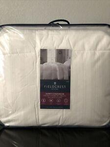"""NEW Fieldcrest Warmest Superior Insulation Down Comforter White King 110""""x96"""" P2"""