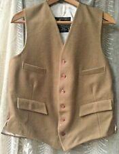 Vintage Merage Gent Waistcoat pure wool doeskin Made England Hipster Hunter