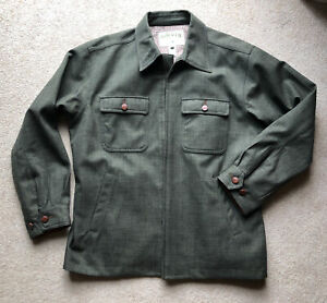 Orvis Casual Country Jacket Leather Trim Size Large