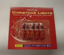 Pack of 5 Push In Spare Fairy Bulbs In Dark Red 7v 0.98w 0.14a (S31)