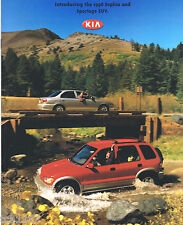 1998 KIA SEPHIA & SPORTAGE SUV Catalog / Brochure with Color Chart