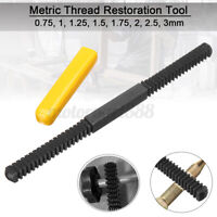 Metric Thread Restoration Repair Tool File Damaged Threads 0.75 to 3mm Pitch